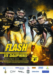 Affiche Flash vs Dauphins bas