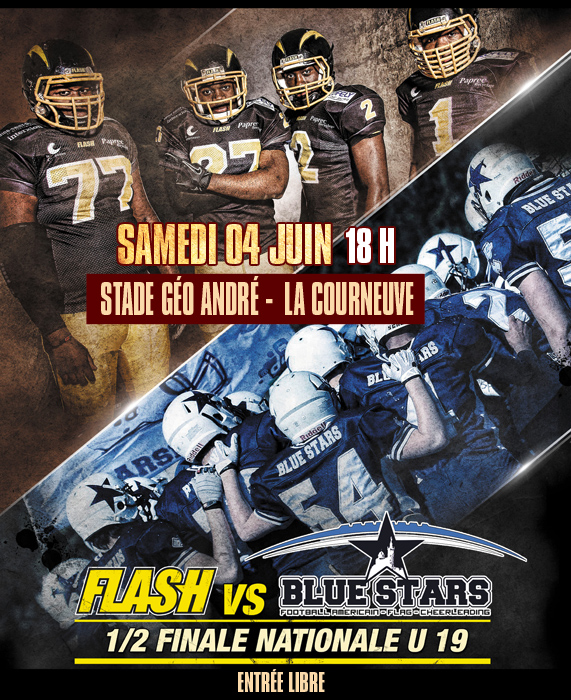 Affiche-U19-Flash-vs-Blue-Stars-2016